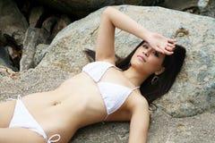 Beautiful Asian woman in a bikini Royalty Free Stock Images