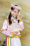 Beautiful Asian Woman with Traditional Dress Stock Photo