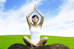 Beautiful Asian Woman doing Yoga Royalty Free Stock Photo