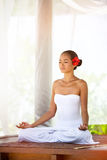 Beautiful  Asian woman doing yoga Royalty Free Stock Images