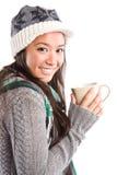 Beautiful asian woman drinking coffee Royalty Free Stock Photo