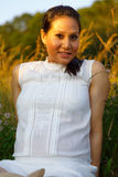 Beautiful asian woman enjoying nature Royalty Free Stock Photos