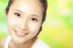 Beautiful asian woman face. Close up of beautiful asian woman face Royalty Free Stock Photos