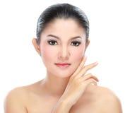 Beautiful asian woman face Stock Photos