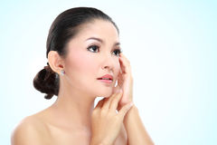 Beautiful asian woman face Stock Images