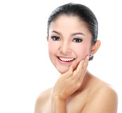 Beautiful asian woman face Stock Photography