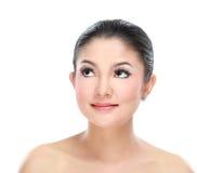 Beautiful asian woman face Royalty Free Stock Photos
