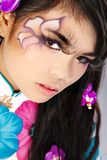 Beautiful asian woman with fashion make-up Royalty Free Stock Image