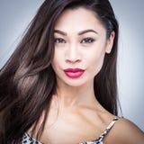Beautiful Asian Woman Fashion Portrait Stock Image