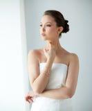 Beautiful asian woman with golden bracelet Stock Image