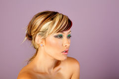 Beautiful asian woman with hairstyle and makeup Stock Photo
