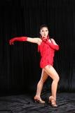 Beautiful Asian woman Latin dance stock photography