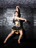 Beautiful Asian woman Latin dance Royalty Free Stock Images