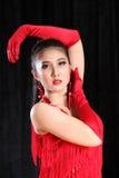 Beautiful Asian woman Latin dance Stock Photos