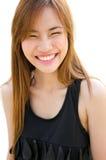Beautiful Asian woman laughing. Stock Photos
