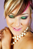 Beautiful asian woman with makeup Royalty Free Stock Images