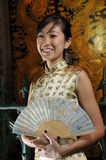 Beautiful Asian Woman In Oriental Theme Stock Images