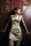 Beautiful Asian Woman In Oriental Theme Royalty Free Stock Photos