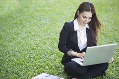 Beautiful Asian woman - outdoor Stock Image