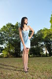 Beautiful Asian Woman In The Park Stock Images