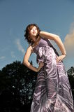 Beautiful Asian Woman In Park Stock Images