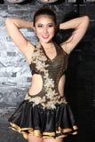 Beautiful Asian woman portrait studio Royalty Free Stock Image