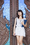 Beautiful Asian woman posing. Royalty Free Stock Image