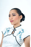 Beautiful Asian woman in Qipao Royalty Free Stock Images