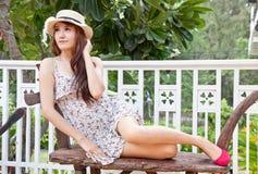 Beautiful asian woman relaxing Royalty Free Stock Photography