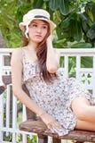 Beautiful asian woman relaxing Stock Photos