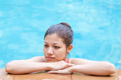 Beautiful Asian woman relaxing Royalty Free Stock Photography