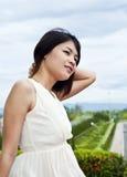 Beautiful Asian woman relaxing. Stock Image