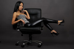 Beautiful asian woman sitting Royalty Free Stock Images