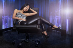 Beautiful asian woman sitting Stock Photography