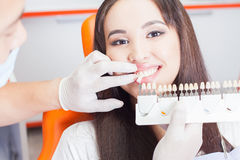 Beautiful asian woman smile with healthy teeth whitening Royalty Free Stock Image