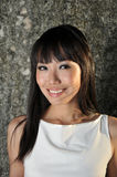 Beautiful Asian Woman Smiling Face Royalty Free Stock Image
