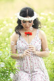 Beautiful Asian woman in Spring Stock Photography