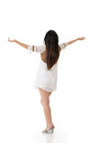 Beautiful asian woman stretch arms from back Royalty Free Stock Images