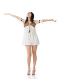Beautiful asian woman stretch arms Stock Images