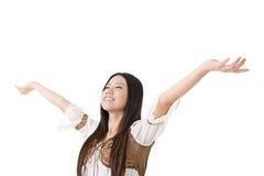 Beautiful asian woman stretch arms Stock Photos