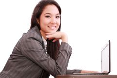 Beautiful asian woman using her laptop Stock Image