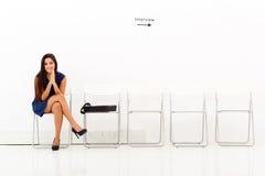 Woman employment interview. Beautiful asian woman waiting for employment interview royalty free stock photos