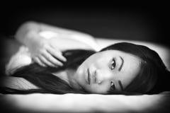 Beautiful Asian Woman Wearing Lingerie Stock Image