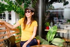 Beautiful Asian woman wearing sunglasses Royalty Free Stock Photo