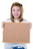 Beautiful asian women asian hold wood board Royalty Free Stock Photos