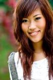 Beautiful asian women outside royalty free stock image