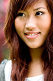 Beautiful asian women outside Royalty Free Stock Images