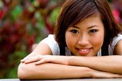 Beautiful asian women outside Royalty Free Stock Photo