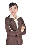 Beautiful Asian young businesswoman standing Royalty Free Stock Photos