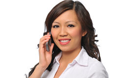 Beautiful asian young woman with cell phone Stock Image